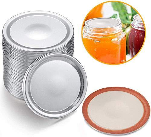 24-Count, Wide mouth Canning Lids for Ball, Kerr Jars - Split-Type Metal Mason Jar Lids for Canning - Food Grade Material, 100% Fit & Airtight for Wide mouth Jars(Wide mouth) - PHUNUZ