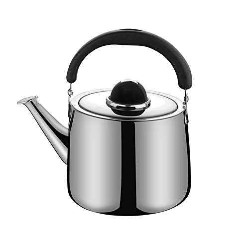 M-MAX Stainless Steel Tea Kettle Stovetop Whistling Teakettle Teapot with Ergonomic Handle -3QT (3L)