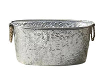 Load image into Gallery viewer, Oval Assorted Galvanized Tubs with Metal Handles - 1 Per Order