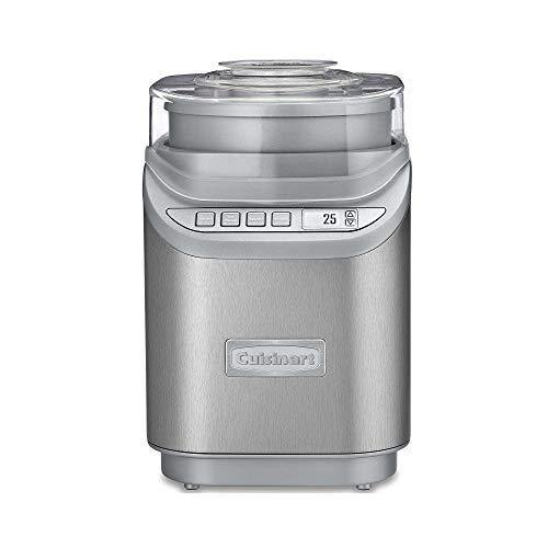 Cuisinart ICE-70 Electronic Ice Cream Maker, Brushed Chrome, Ice Cream Maker with Countdown Timer, With Countdown Timer - PHUNUZ
