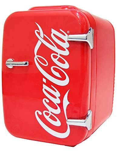 Coca-Cola Vintage Chic 4L Cooler/Warmer Mini Fridge by Cooluli for Cars, Road Trips, Homes, Offices and Dorms (110V/12V) - PHUNUZ