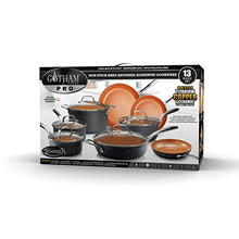 Load image into Gallery viewer, Gotham Steel Hard Anodized Pots and Pans 13 Piece Premium Cookware Set with Ultimate Nonstick Ceramic & Titanium Coating, Oven and Dishwasher Safe, Copper