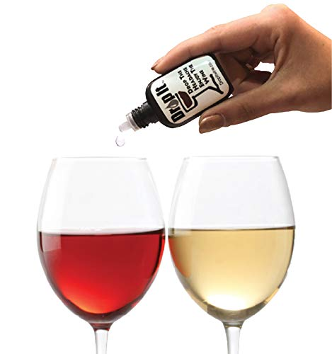 Drop It Wine Drops, 1 Pack – Natural Wine Sulfite Remover and Wine Tannin Remover – Enjoy Wine Again, Works in Just 20 Seconds – Portable and Discreet – A Wine Filter or Wand Alternative