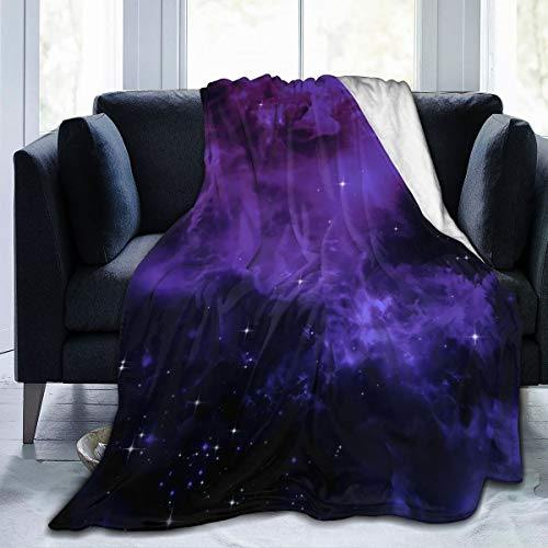MYSTCOVER Galaxy Throw Blanket for Sofa Couch Soft Flannel Decorative Warm Cozy Lightweight Microfiber Suitable All Season 50x40 Inch for Child - PHUNUZ
