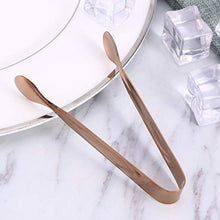 Load image into Gallery viewer, Toyvian 6pcs Ice Tongs Stainless Steel Cube Sugar Tongs Food Cookie Tongs for Home Store Bar (Rose Gold)