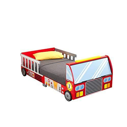 KidKraft Fire Truck Toddler Bed - PHUNUZ