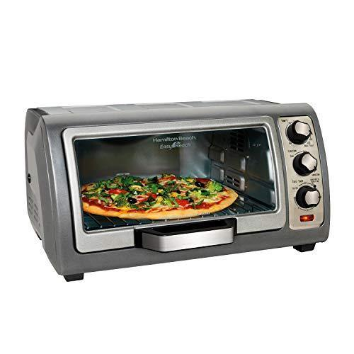 Hamilton Beach (31126) Toaster Oven, Convection Oven, Easy Reach,Silver - PHUNUZ