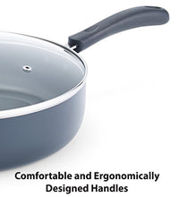 Load image into Gallery viewer, T-fal B36290 Specialty Nonstick 5 Qt. Jumbo Cooker Sauté Pan with Glass Lid, Black