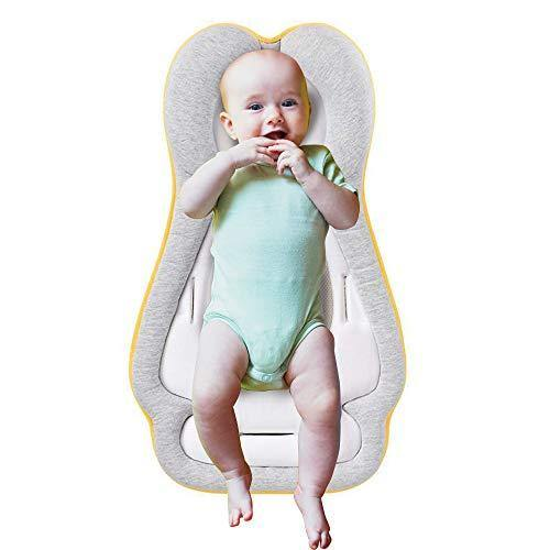 Baby Lounger Portable Infant Head Support Pillow Newborn Baby Nest Mattress Ultra Soft and Breathable Baby Crib Bed Sleep Positioning Cushion 0-6M [PROVIDES SUPPORT & ADAPTS TO ALL BABY GEAR] - PHUNUZ