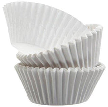 Load image into Gallery viewer, Green Direct Cupcake Liners - Standard Size Cupcake Wrappers to use for Pans or carrier or on stand - White Paper Baking Cups Pack of 500 - PHUNUZ
