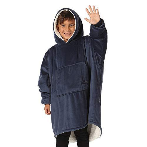 THE COMFY Original JR | The Original Oversized Sherpa Wearable Blanket for Kids, Seen On Shark Tank, One Size Fits All - PHUNUZ