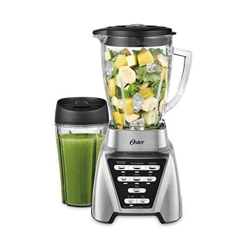 Oster Blender | Pro 1200 with Glass Jar, 24-Ounce Smoothie Cup, Brushed Nickel - PHUNUZ