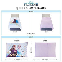 "Load image into Gallery viewer, Franco NS2188 Kids Bedding Super Soft Microfiber Pillow Sham and Quilt Set, Twin/Full Size 72"" x 86"", Disney Frozen 2 - PHUNUZ"