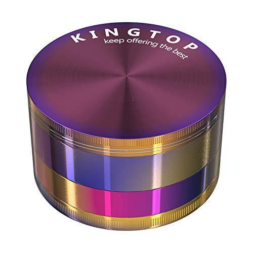 KINGTOP Herb Spice Grinder Large 3.0 Inch (Colorful) - PHUNUZ