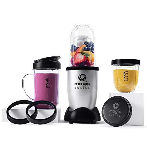 Magic Bullet Blender, Small, Silver, 11 Piece Set - PHUNUZ