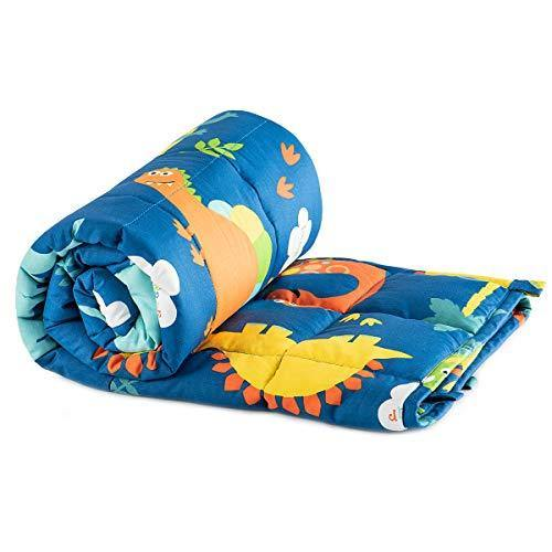 Sivio Kids Weighted Blanket, 5 lbs, 36 x 48 inches, 100% Natural Cotton Heavy Blanket for Kids and Toddler, Blue Dinosaur - PHUNUZ