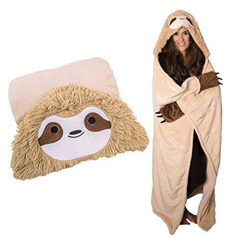 Original Authentic Slothy Sloth Wearable Hooded Blanket - PHUNUZ