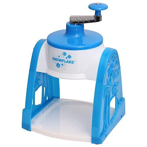 Time for Treats SnowFlake Snow Cone Maker, Small, white and blue - PHUNUZ