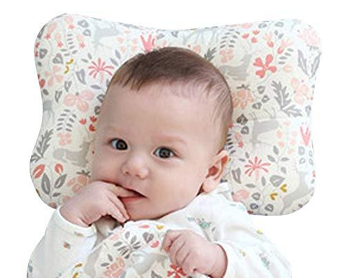 Baby Pillow for Newborn Breathable 3D Air Mesh Organic Cotton, Protection for Flat Head Syndrome Bambi Pink - PHUNUZ