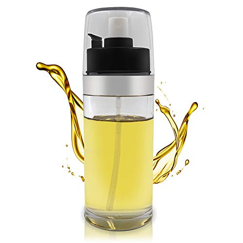 Olive Oil Sprayer, 150mlOil Dispenser, Spray Mister Olive Oil Bottle for Cooking, Vinegar, Refillable Oil Bottle Perfect for Baking, BBQ Roasting, Grilling, Salad, with 2 Brushes