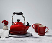 Load image into Gallery viewer, Le Creuset Enamel On Steel Whistling Tea Kettle, 1.7 qt., Cerise