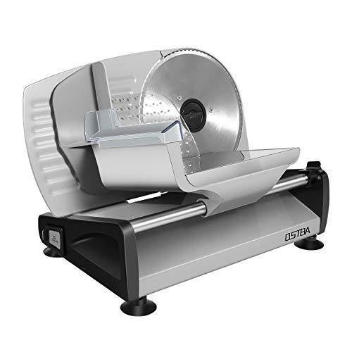 Meat Slicer Electric Deli Food Slicer with Child Lock Protection, Removable 7.5'' Stainless Steel Blade and Food Carriage, Adjustable Thickness Food Slicer Machine for Meat, Cheese, Bread(150W) - PHUNUZ