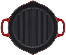 "Load image into Gallery viewer, Le Creuset Enameled Cast Iron Signature Deep Round Grill, 9.75"", Cerise"