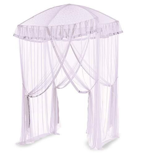 HearthSong Sparkling Lights Light-Up Bed Canopy for Twin, Full, or Queen Beds, 58