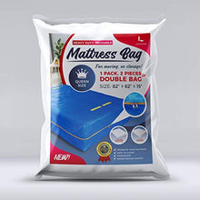 Load image into Gallery viewer, LEVARARK Mattress Bag For Moving and Storage | Queen Size Double Cover | Heavy Duty Tarp Plus 4 Mil Thick Plastic Mattress Protector | Sturdy Reuasable Material | 8 Handles and Strong Zipper Closure