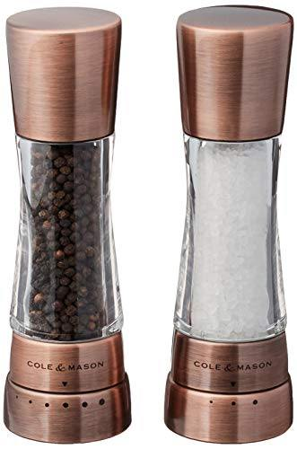 Cole & Mason Derwent Gourmet Precision Copper Salt and Pepper Mill Set with... - PHUNUZ