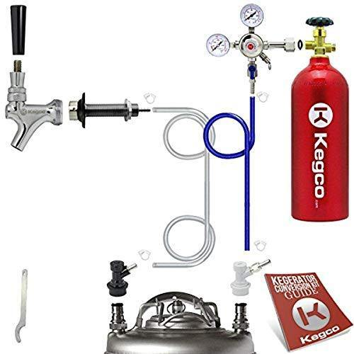 Kegco Hombrew Kegerator Conversion Kit, Single Faucet, None - PHUNUZ
