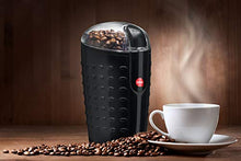 Load image into Gallery viewer, Quiseen One-Touch Electric Coffee Grinder. Grinds Coffee Beans, Spices, Nuts and Grains - Durable Stainless Steel Blades (Black)