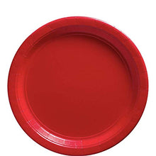 Load image into Gallery viewer, Amscan 650013.4 Apple Red Paper Luncheon Plates | Big Party Pack | 50 Ct, 9""