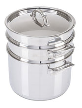 Load image into Gallery viewer, Viking 3-Ply Stainless Steel Pasta Pot with Steamer, 8 Quart