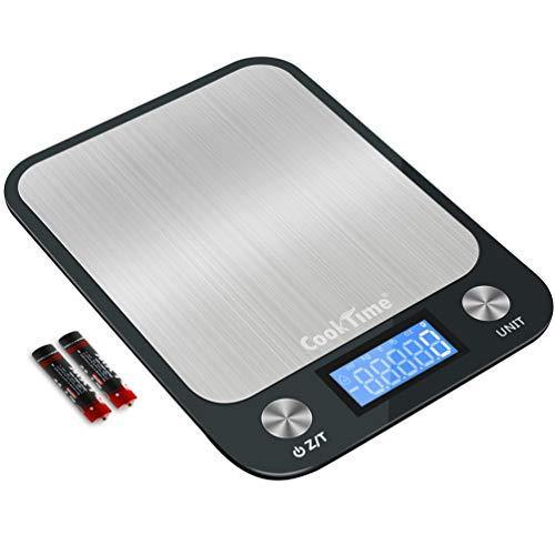 Digital Kitchen/Food Scale Grams and Ounces - Ultra Slim/Multifunction/Tare Function Kitchen Weight Scales for Cooking & Baking - 22lb/10kg Capacity,0.04oz/1g(Batteries Included) - PHUNUZ