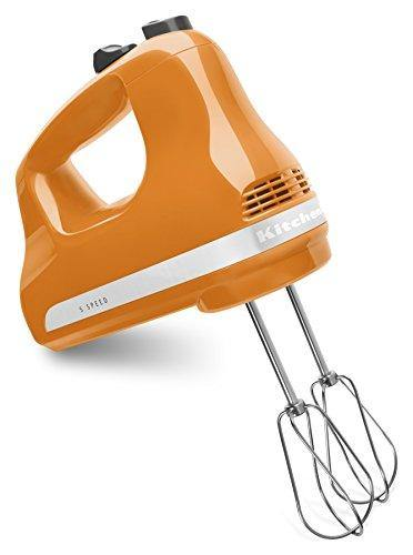KitchenAid KHM512TG 5-Speed Ultra Power Hand Mixer, Tangerine - PHUNUZ