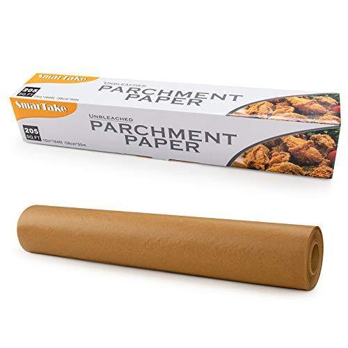 SMARTAKE Unbleached Parchment Paper, 15 in × 164 ft (205 Sq. Ft) Non-Stick Baking Parchment Roll, Baking Pan Liner for Kitchen, Air Fryer, Steamer, Cooking Bread, Cookies and More - PHUNUZ