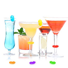 Load image into Gallery viewer, Wine Glass Charms Markers Drink Markers for Wine Glass Champagne Flutes Cocktails, Martinis (Silicone, 24 Pieces)