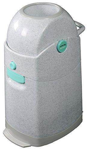 Creative Baby Tidy Diaper Pail, Marble, Marble/Blue/Gray, One Size - PHUNUZ