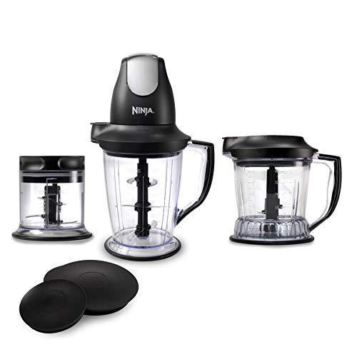 Ninja Blender/Food Processor with 450-Watt Base, 48oz Pitcher, 16oz Chopper Bowl, and 40oz Processor Bowl for Shakes, Smoothies, and Meal Prep (QB1004) - PHUNUZ