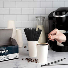 Load image into Gallery viewer, Coffee Stirrers Sticks, Disposable Plastic Drink Stirrer Sticks, 1000 Stirrers, Use It As A Coffee Straws Or A Cocktail Mixers Black, 7 1/2-Inch (Pack of 1)