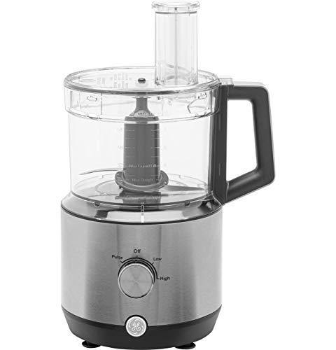 GE 12-Cup Food Processor, Powerful 3-Speed 550 Watt with Ergonomic Handle and Large Feed Tube, Stainless Steel Shredding & Slicing Blades, G8P0AASSPSS - PHUNUZ