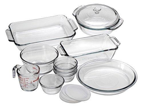 Anchor Hocking Oven Basics Glass Baking Dishes, Mixed, 15-piece - PHUNUZ