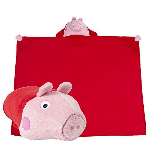 Comfy Critters Peppa Pig Blanket – Kids huggable pillow/blanket combo. Perfect for Pretend Play, Travel, Nap Time or Any Time. - PHUNUZ