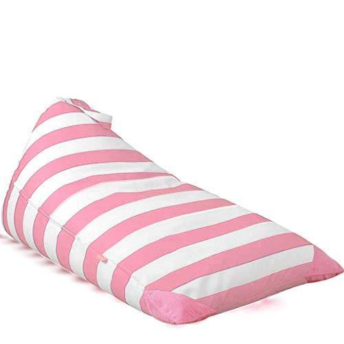 POKONBOY Stuffed Animal Storage Bean Bag, Bean Bag Cover for Organizing Kid's Room, Extra Large Stuffed Animal Storage Stuffed Many Animals Bean Bag Chairs for Kids - 100% Cotton Canvas Pink Stripe - PHUNUZ