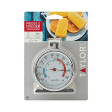 Load image into Gallery viewer, Taylor Precision Products Classic Large Dial Fridge/Freezer Thermometer, 1 Pack, Silver