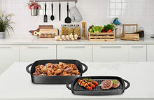 Load image into Gallery viewer, Pre-Seasoned Cast Iron Square Casserole Baker With Griddle Lid 2 in 1 Multi Baker Dish 10""