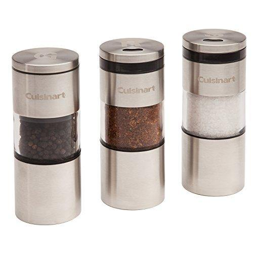 Cuisinart CSS-33 Magnetic Grilling Spice Set, Silver - PHUNUZ