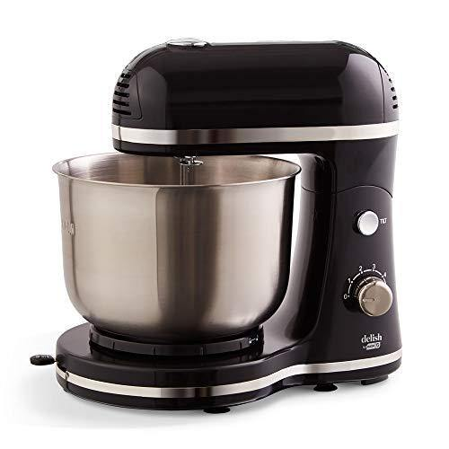 DASH Delish by Dash Compact Stand Mixer 3.5 Quart with Beaters & Dough Hooks Included - Black (DCSM350GB) - PHUNUZ