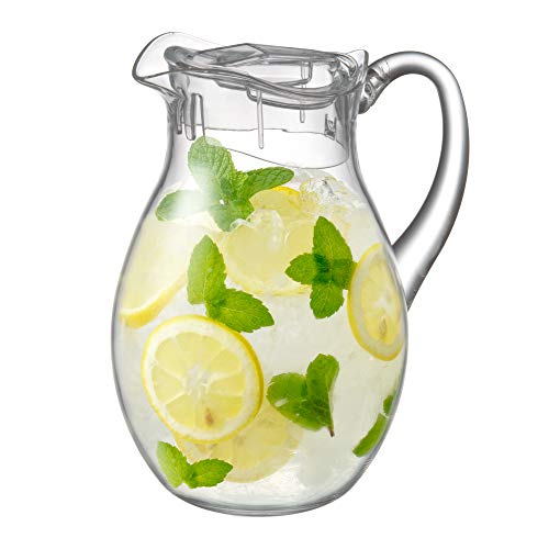 Amazing Abby - Bubbly - Acrylic Pitcher (72 oz), Clear Plastic Pitcher, BPA-Free and Shatter-Proof, Great for Iced Tea, Sangria, Lemonade, and More